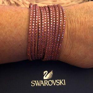 Swarovski Double Wrap Slake Bracelet